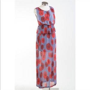 Dear Creatures maxi dress poppy floral pleated